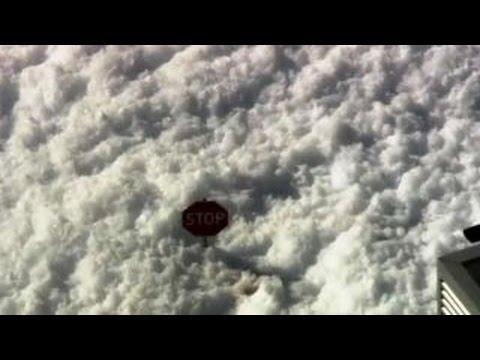 Police respond to huge foam blob in Santa Clara, California