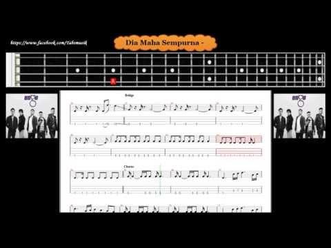 Bass - Dia Maha Sempurna - Ungu ( Tab Bass Cover )