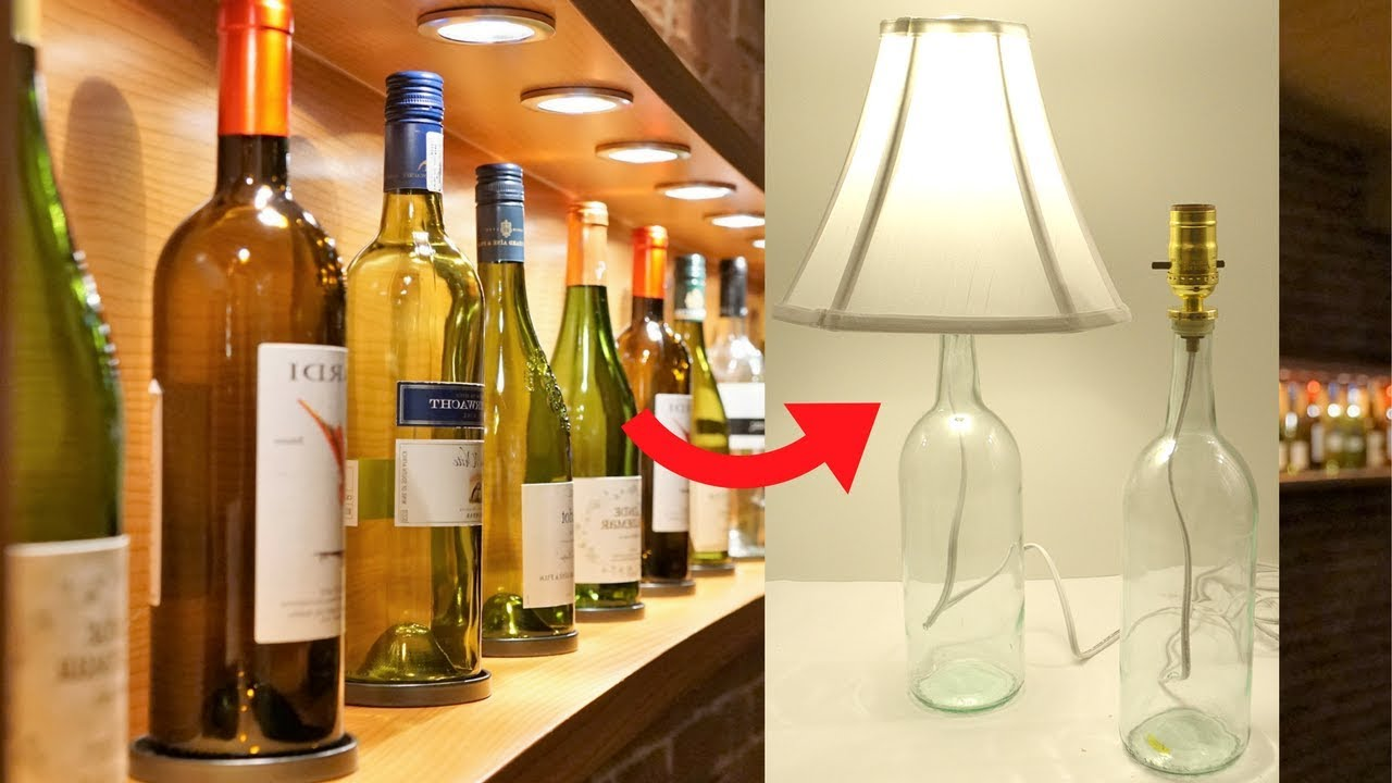 How To Turn A Wine Bottle Into A Lamp Youtube