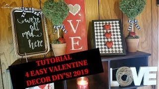 4 EASY DOLLAR TREE DECOR DIY'S | VALENTINE'S & FARMHOUSE 2019