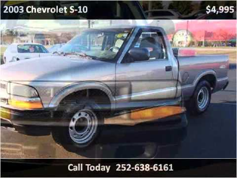 2003 chevrolet s 10 used cars new bern nc youtube. Black Bedroom Furniture Sets. Home Design Ideas