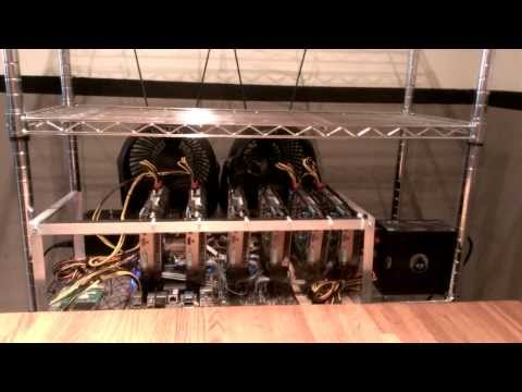 6x7970 Bitcoin Litecoin Worldcoin Mining Rig Replaces Household Heater
