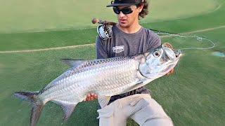 FLY FISHING for Tarpon in PRIVATE PONDS!