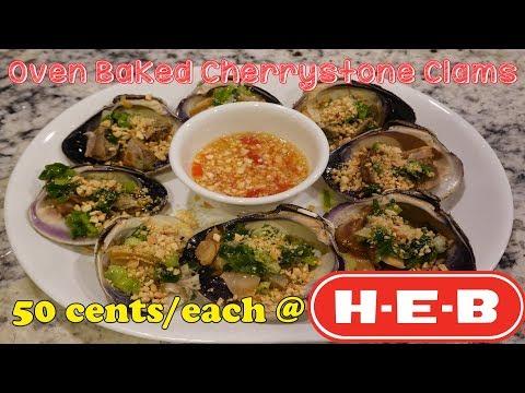 How to make Delicious Oven Baked Cherrystone Clams | Mukbang | Nghêu Nướng Mỡ Hành