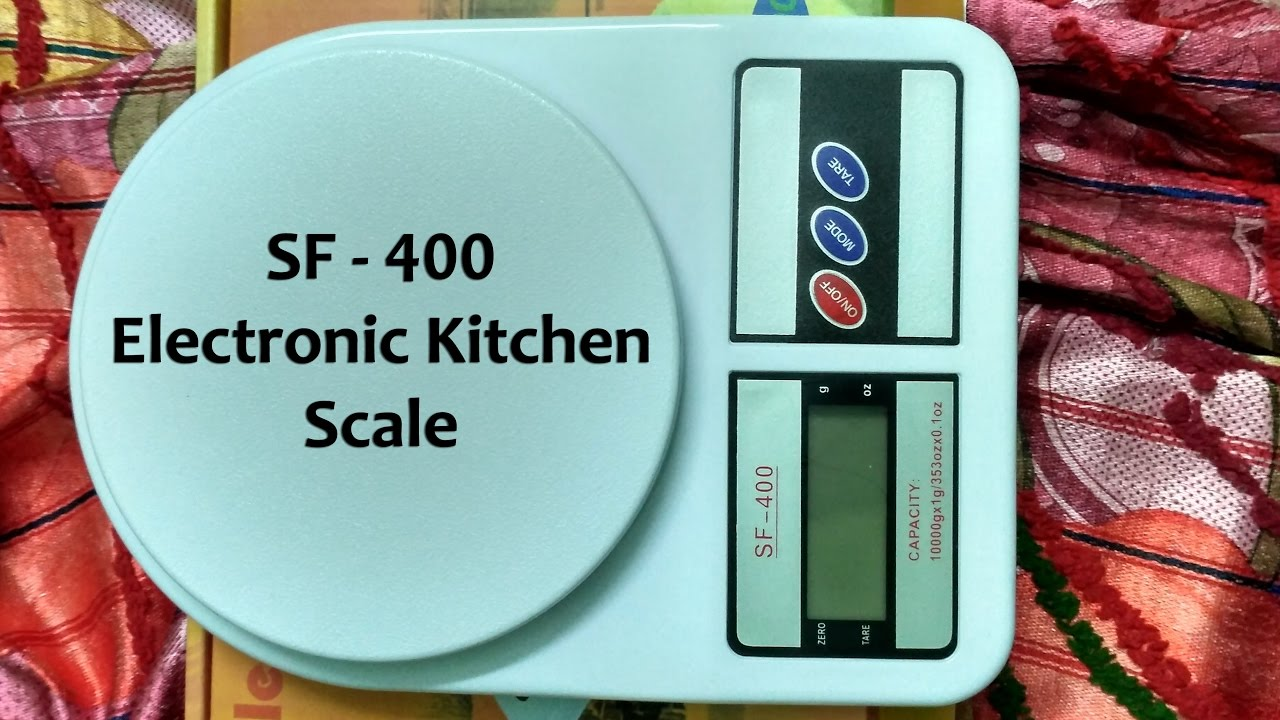 SF 400 - Electronic Kitchen Scale Unboxing and Review - 10Kg ...