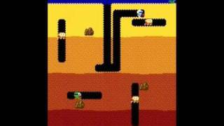 DIG DUG original arcade gameplay 999990pts (3times playback speed)