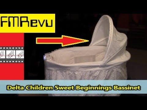 Delta Children Sweet Beginnings Bassinet Assembly Video