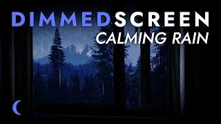Calming Rain Sounds for Sleeping with Open Window - Dimmed Screen | Relaxing Rain for Deep Sleep
