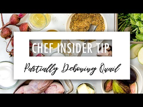 Chef Insider Tip :: Partially Deboning Quail