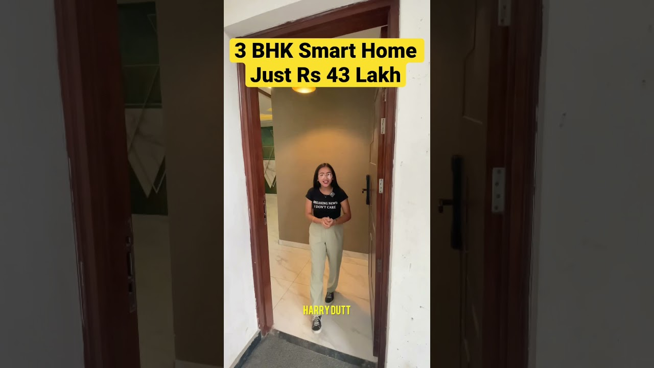 3 Bedroom Luxury Smart Home Just Rs 43 Lakh #shorts