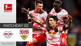 Szoboszlai Shines with a Brace RB Leipzig VfB Stuttgart 4 0 All Goals Matchday 2 2021 22