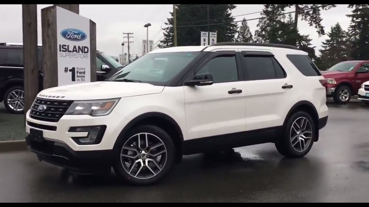 2017 ford explorer sport power folding 3rd row seats review island ford youtube