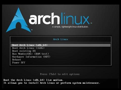 Arch Boot Screenshot
