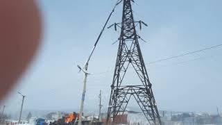 Elektr uzatish liniyalari ta'mirlash. 3 MD-n, PR-t Gagarin. 07.03.2018