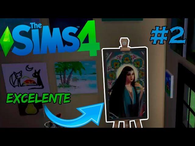 The Sims 4 #2 Primeira pintura EXCELENTE :O