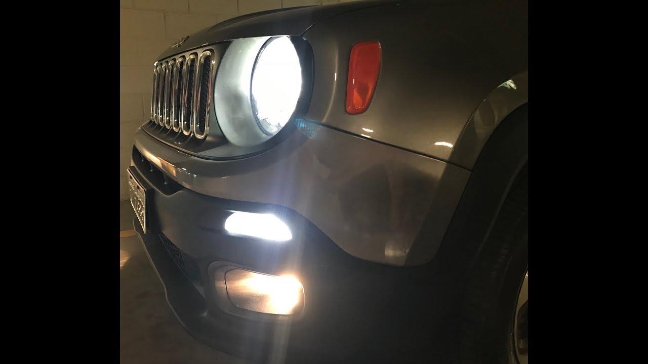 Jeep Renegade Com Lampada Philips X Treme Ultinon Led H4 E Led No