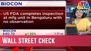 Biocon: US FDA Completes Inspection At Mfg Unit In Bengaluru With No Observation