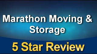 Marathon Moving 7813303200 Excellent Five Star Review by Mary Pacheco