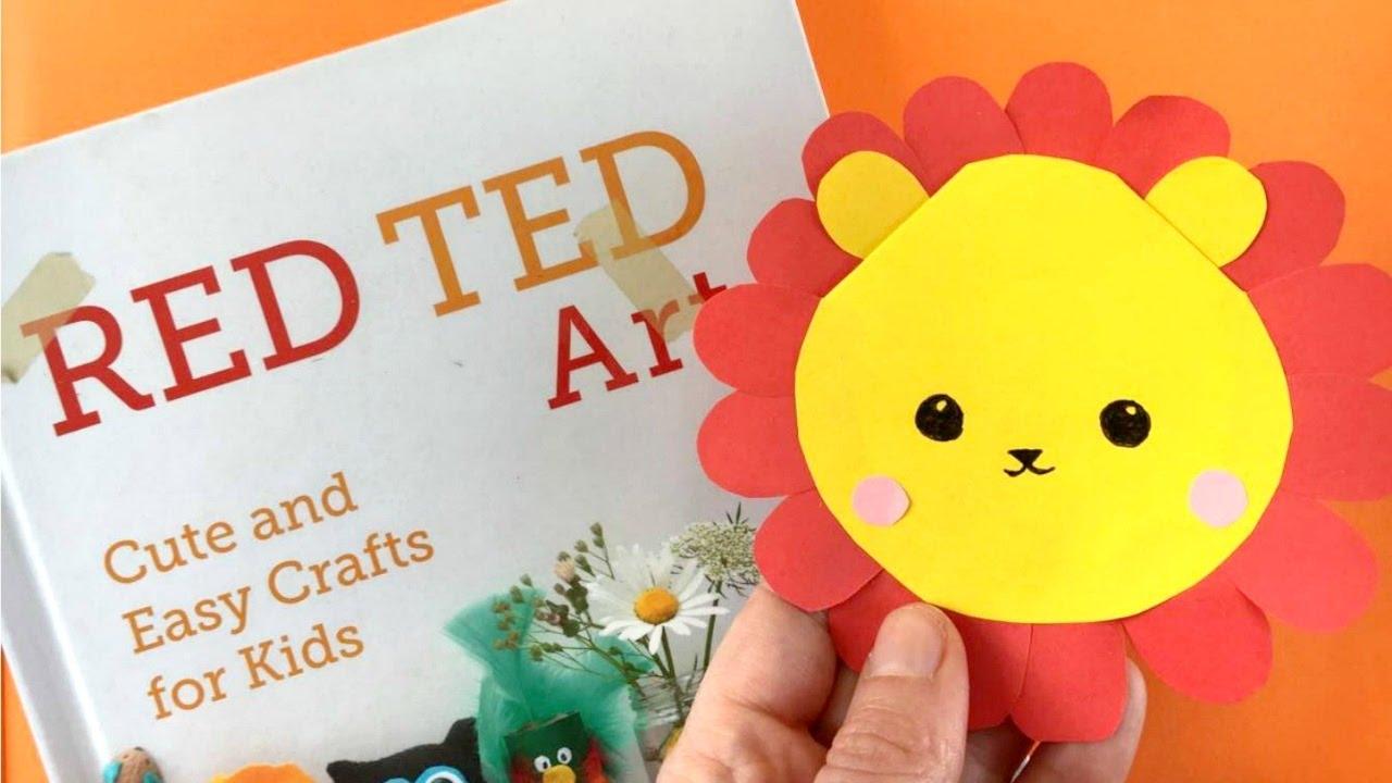 Easy Lion Bookmark Diy Animal Bookmark Corner Diy Youtube