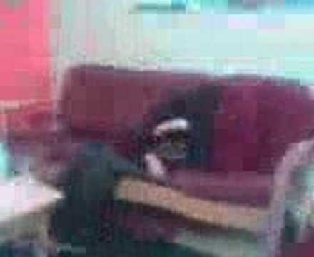 Becky Falling Through Chair