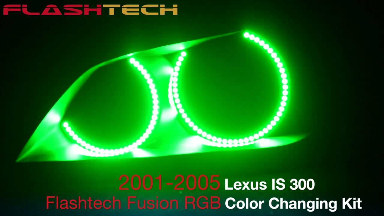 lexus is300 v.3 fusion colorshift halo headlight kit (2001-2005