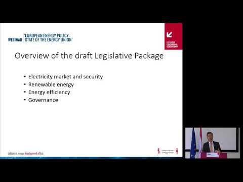 WEBINAR – 'European energy policy – State of the Energy Union' by Prof  Buschle