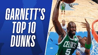 Kevin Garnett's Top 10 Career NBA Dunks!