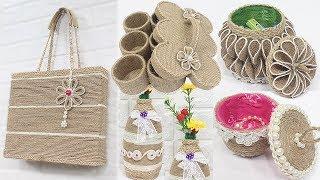 5 Jute craft ideas | Jewelry storage box, Bag