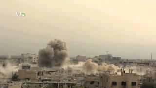 Сирия Дамаск Дарья четвертый год блокады сброс барельных бомб 8 11 015