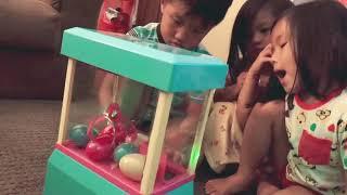 Moj Moj Claw Machine with the kids