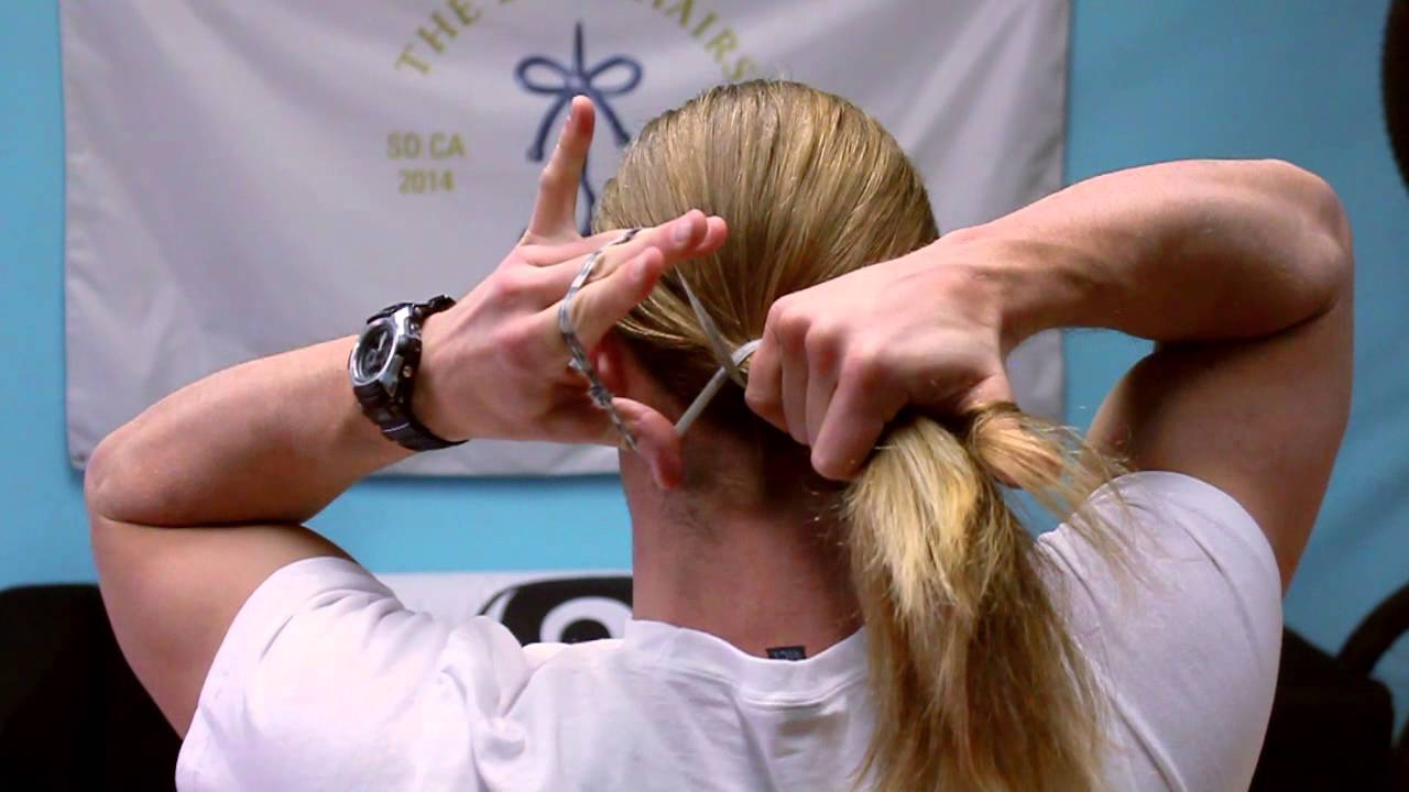 how to tie a long hair in different styles how to tie your hair for guys 5019 | maxresdefault