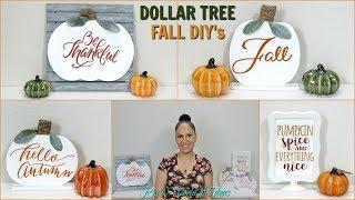 DOLLAR TREE DIY FARMHOUSE STYLE FALL SIGNS | HOME DECOR
