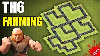 CLASH OF CLANS - NEW & BEST TH6 FARMING BASE  🔴 TOWN HALL 6 FARMING BASE DECEMBER 2016