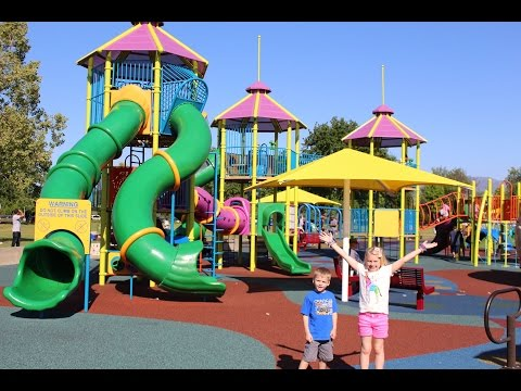 Huge Awesome Park With Sliding Hills!