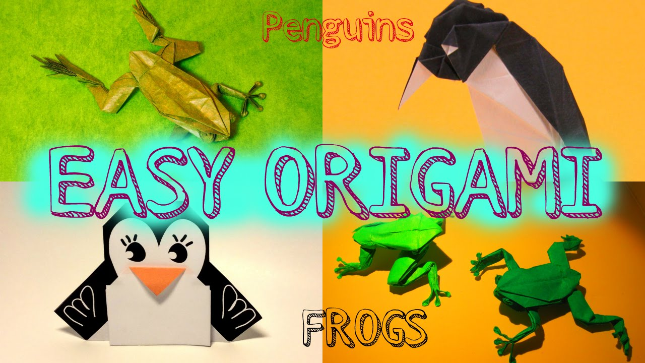 Origami tutorial how to make an easi origami jumping frog and origami tutorial how to make an easi origami jumping frog and penguin jeuxipadfo Images