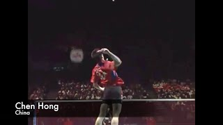 the high level badminton match by two chinese lin dan and chen hong at all england open 2005