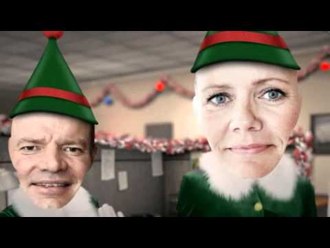 Danish Immigration Service Merry Christmas Office Elves