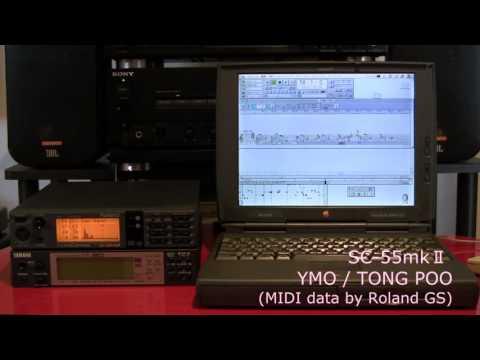YMO  TONG POO _SC-55mk2 midi / Opcode Vision PB1400