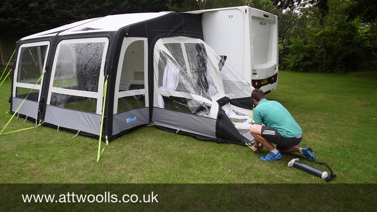 How to pitch an Inflatable Awning Annexe (Tutorial) Video & How to pitch an Inflatable Awning Annexe (Tutorial) Video - YouTube