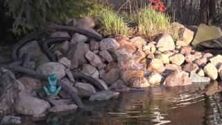 видео Искусственные водоемы. Источник. Ручей. Каскад. Водопад. Фонтан.
