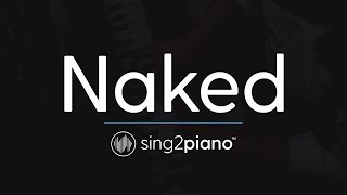 Naked (Piano Karaoke Instrumental) James Arthur