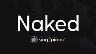Baixar Naked (Piano Karaoke Instrumental) James Arthur