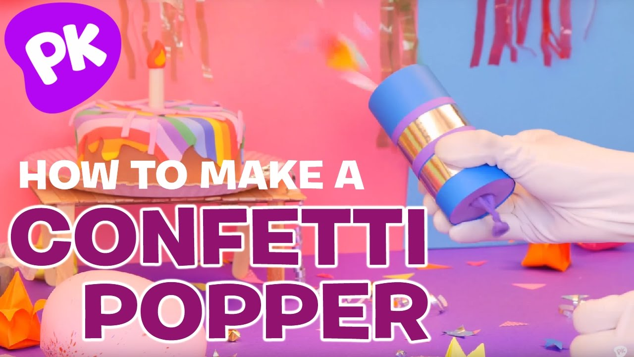 Uncategorized Diy Confetti Cannon how to make a confetti popper cannon easy crafts for kids diy craft ideas by superhands