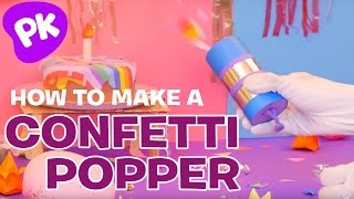 How to Make a Confetti Popper Cannon! Easy Crafts for Kids, DIY Craft Ideas by SuperHands