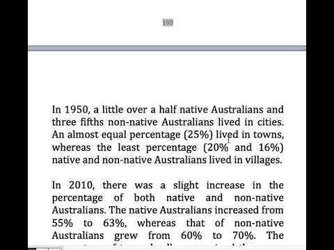 199  Percentage of native and non native Australians living in cities, towns and villages
