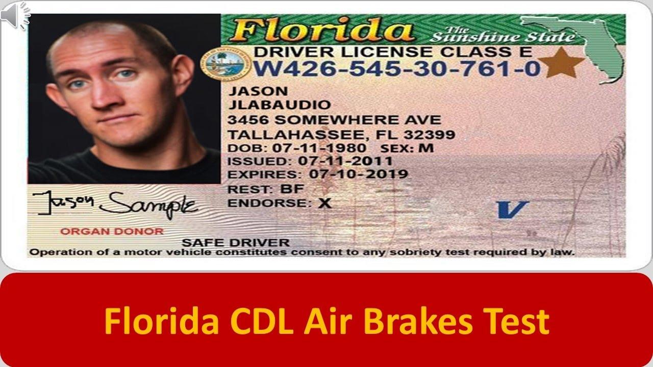 florida cdl air brakes test youtube rh youtube com Printable CDL Book Texas CDL Manual