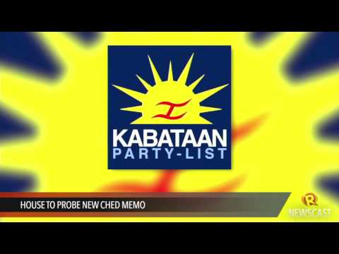 House to probe new CHED memo - YouTube
