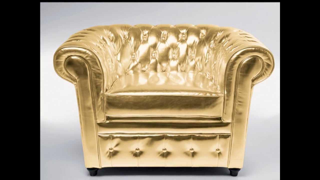 Decorar con muebles en dorado  YouTube