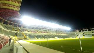 Yeni Tire Stadyumu saha aydınlatma testleri