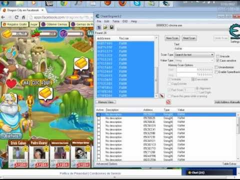 Como Hackear Dragon City Con Cheat engine (Cualkier Version)